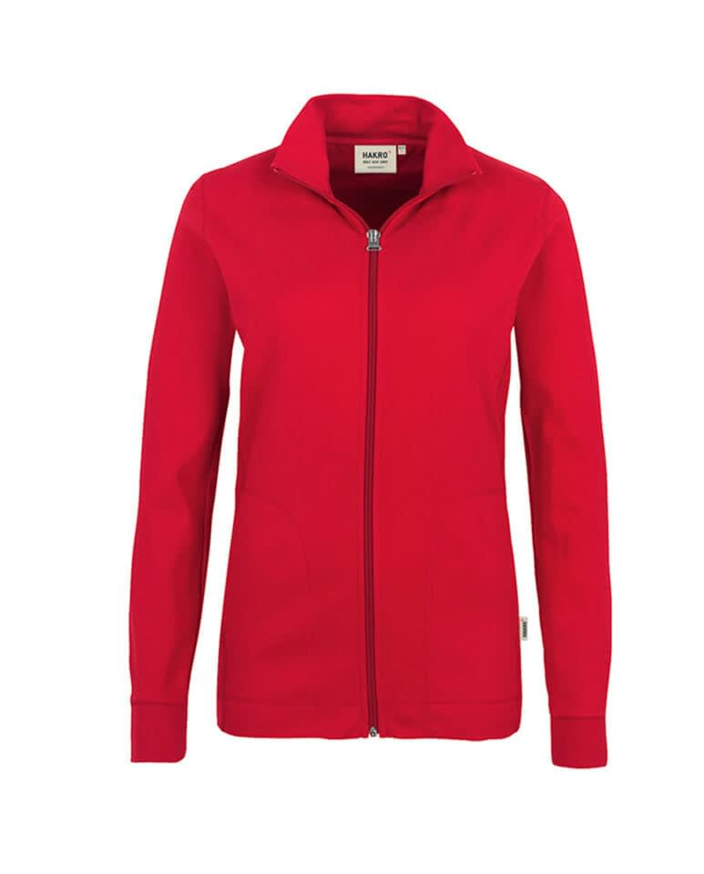 Sweatjacke Hakro Interlockjacke rot Damen