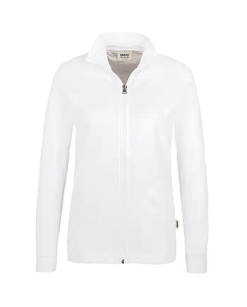 Sweatjacke Hakro Interlockjacke weiss Damen