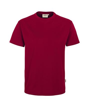 Arbeitskleidung T-Shirt Hakro Performance weinrot für Herren Frontansicht