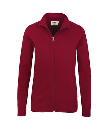 Sweatjacke Hakro Interlockjacke weinrot Damen