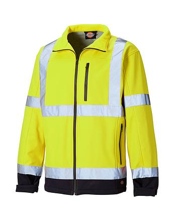 Warnschutzsoftshelljacke Dickies Hi Vis gelb