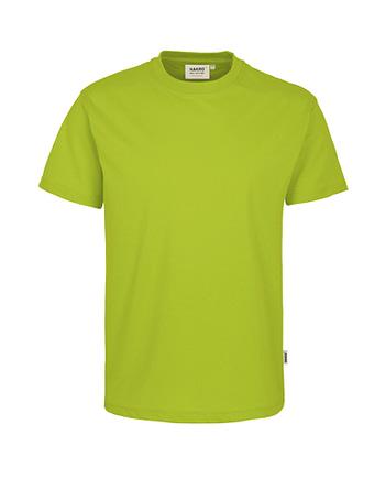 Arbeitskleidung T-Shirt Hakro Performance kiwi für Herren Frontansicht