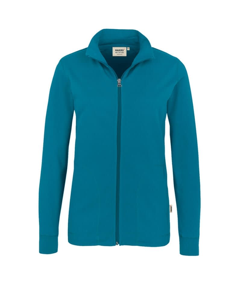 Sweatjacke Hakro Interlockjacke petrol Damen