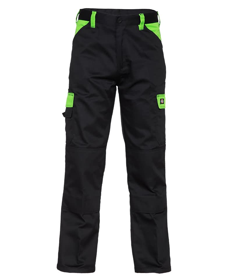 Arbeitshose Dickies Everyday schwarz & grün Herren Frontansicht